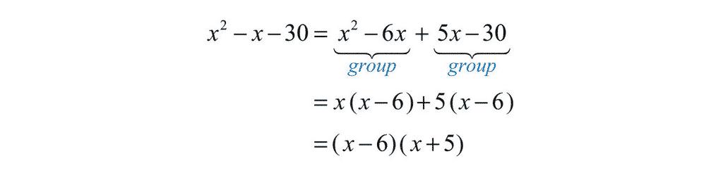 Quadratic Factorisation - The AC Method