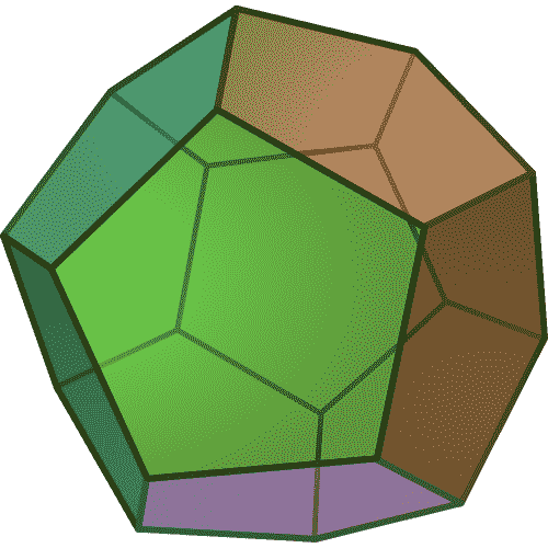 Colored dodecahedron