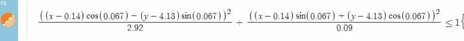 Equation of a rotated ellipse