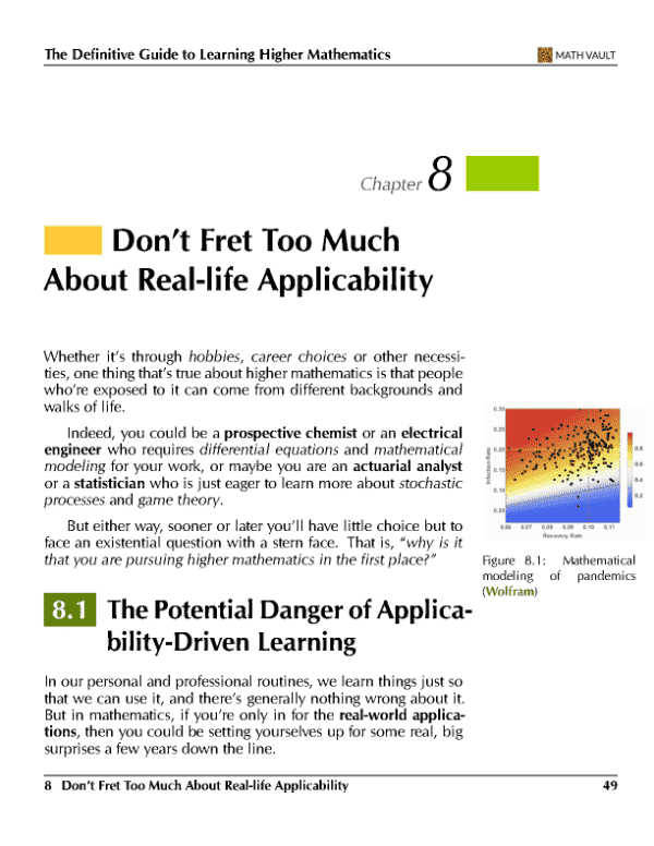 Screenshot of Chapter 8 from Math Vault's The Definitive Guide to Learning Higher Mathematics