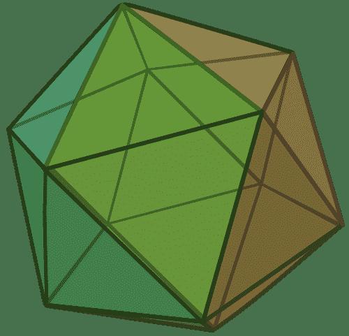 Colored icosahedron