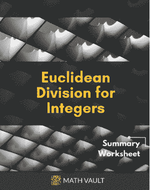 Integer Euclidean Division Summary Worksheet — Cover