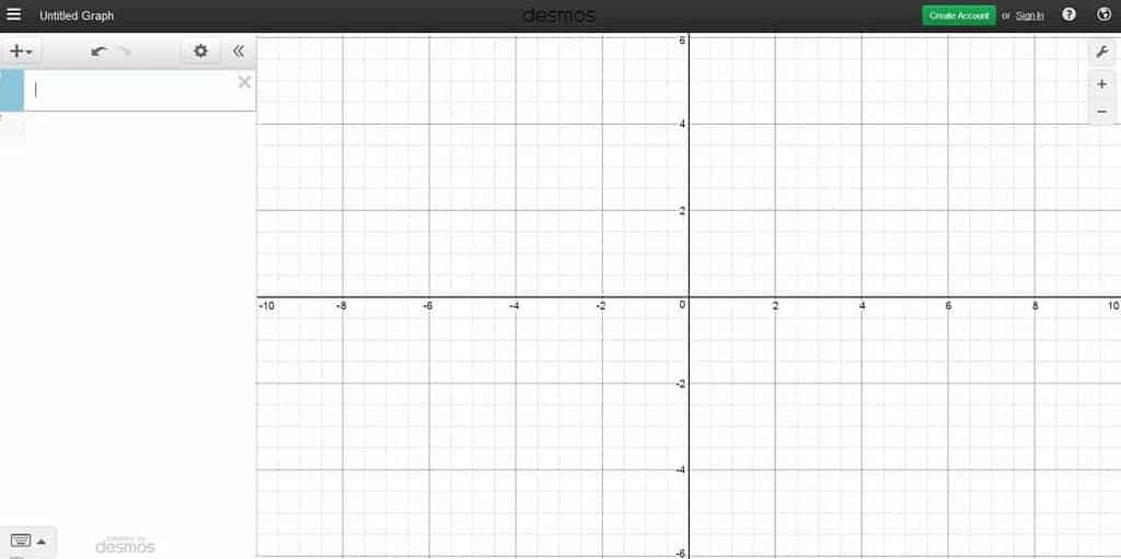 Desmos Graphical Calculator — User Interface