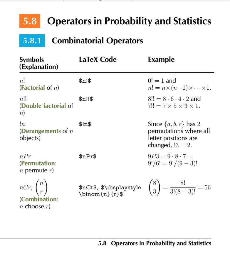 Comprehensive List of Mathematical Symbols Ebook: Probability and Statistics