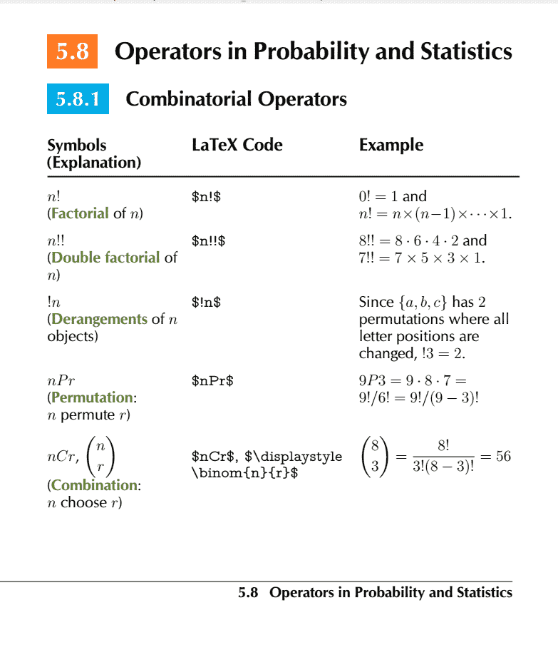 Comprehensive List of Mathematical Symbols Ebook: Probability and Statistics