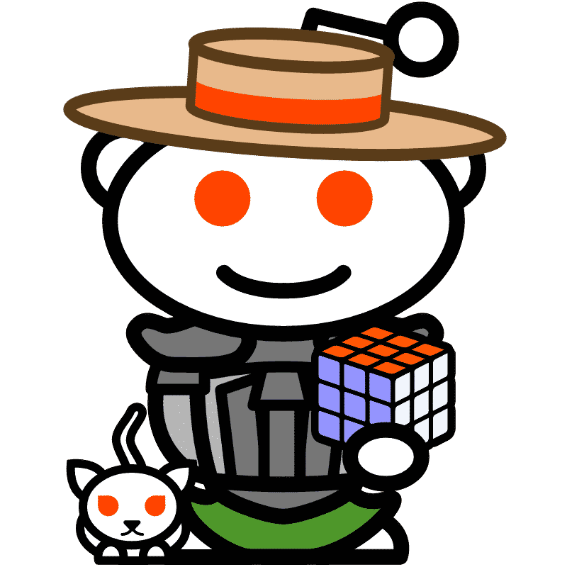 Logo of Math Vault Snoovtar: Redditlady and Redditdog