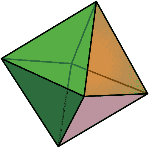 Colored octahedron