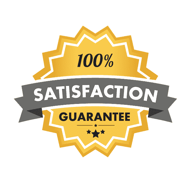 Icon of a badge of a 100% satisfaction guarantee product