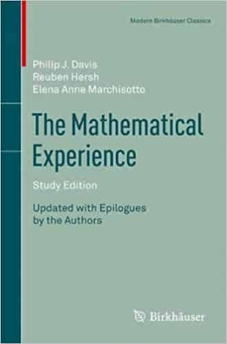 The Mathematical  Experience Study Editionby Reuben Hersh and Philip Davis  — Cover