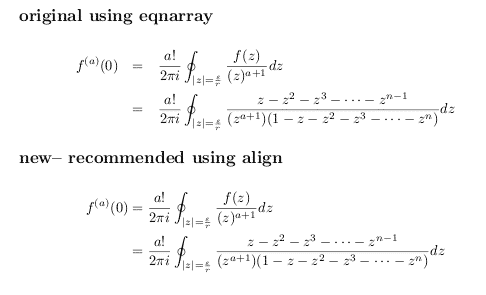 Proper Alignment in LaTeX - Align and Eqnarray environments