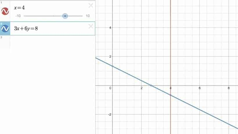 System of linear equations where h=0
