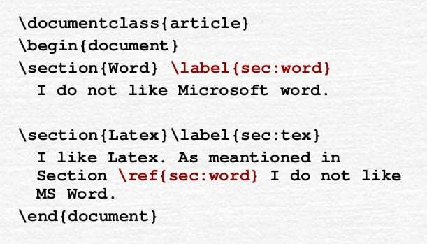 LaTeX Cross Referencing: the label and ref commands