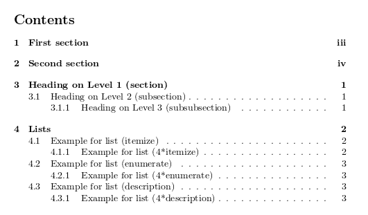 LaTeX - Automatic Numbering Feature for Sections, Subsections and Subsubsections