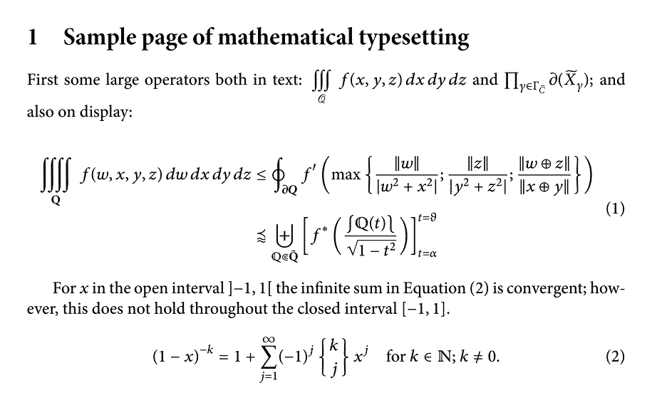 Professional Typesetting - A Sample of What Can Be Achieved In LaTeX