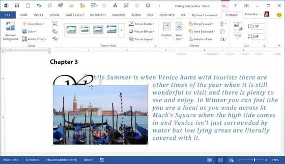 A Typical Microsoft Word Image Misalignment