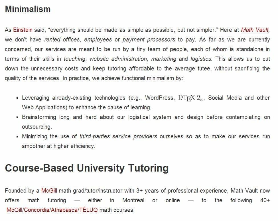 Full Justification in WordPress.com - An Suboptimal Choice
